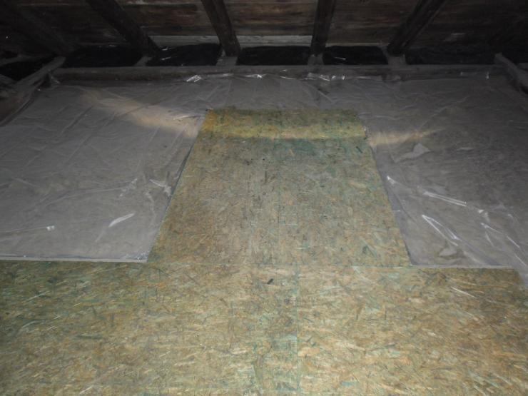 Zateplení stropu minerální vatou